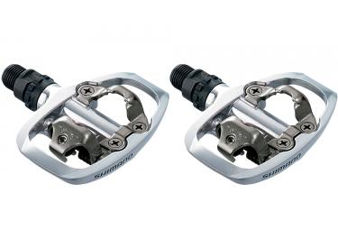 paire de pedales shimano pd a520 argent
