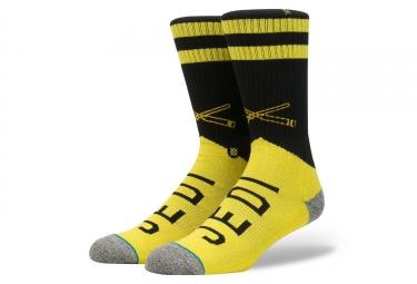 Paire de chaussettes stance varsity jedi jaune noir 38 42