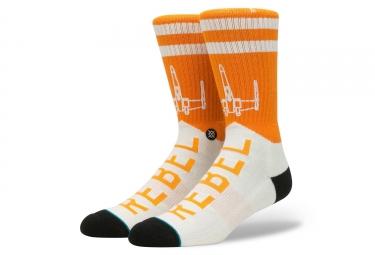 Paire de chaussettes stance varsity rebel orange blanc 43 46