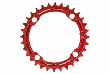 race face mono plateau narrow wide 104mm rouge 32