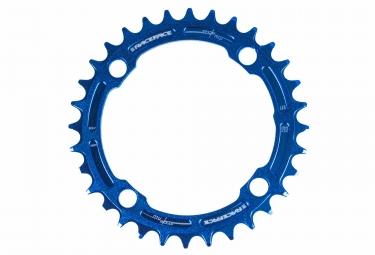 Race face mono plateau narrow wide 104mm bleu 32