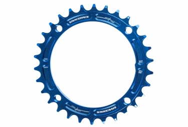 race face mono plateau narrow wide 104 mm bleu taraude 30