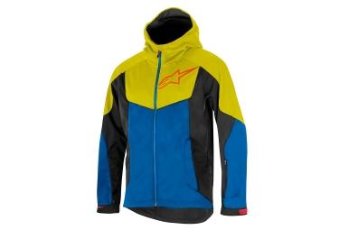 Veste coupe vent alpinestars milestone 2 bleu jaune s