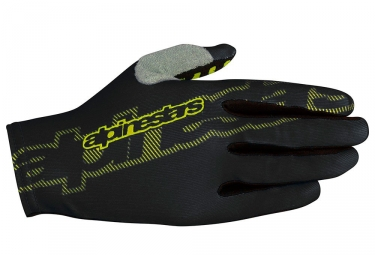 Paire de gants alpinestars f lite noir jaune s