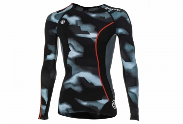 maillot manches longues de compression skins dnamic camouflage l