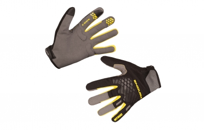 Endura MT500 II Long Gloves Black Yellow
