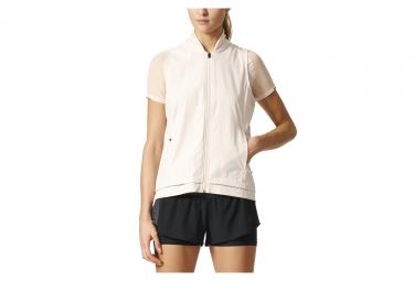 Adidas running veste coupe vent deperlant femme ultra energy beige xs