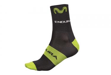 Endura Movistar Team Pair of Socks Black Green