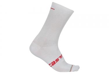paire de chaussettes castelli linea blanc 40 43
