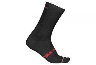 Paire de chaussettes castelli linea noir 36 39