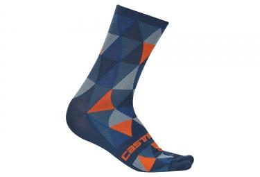 paire de chaussettes castelli fausto bleu orange 36 39