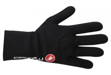 gants longs castelli diluvio noir rouge l xl