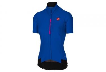 maillot manches courtes femme castelli gabba 2 bleu xs