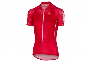 maillot manches courtes femme castelli climber s 2 0 rouge blanc m