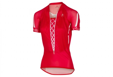 Maillot Manches Courtes Femme CASTELLI CLIMBER´S 2.0 Rouge Blanc