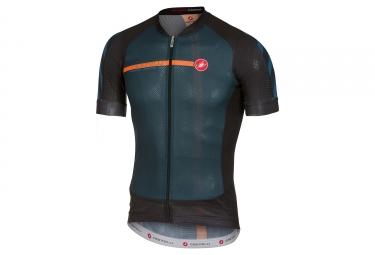 maillot manches courtes castelli aero race 5 1 bleu noir orange l