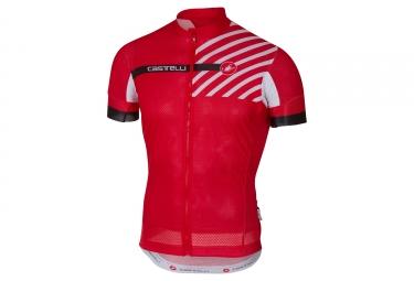 maillot manches courtes castelli aero race 4 1 rouge xxxl