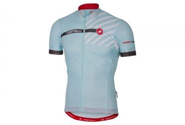 maillot manches courtes castelli aero race 4 1 bleu m