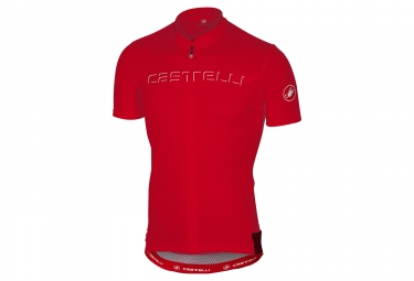 maillot manches courtes castelli prologo 4 v rouge xxl