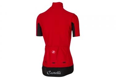 maillot manches courtes femme castelli gabba 2 rouge l