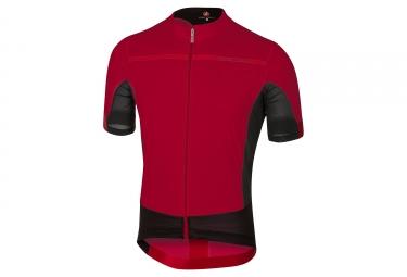 maillot manches courtes castelli forza pro rouge noir xxl