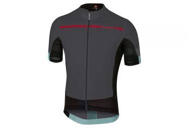maillot manches courtes castelli forza pro gris rouge xxl