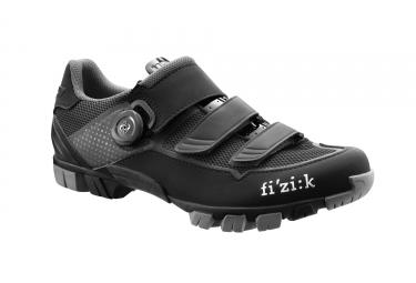 paire de chaussures vtt fizik m6 uomo noir argent 40