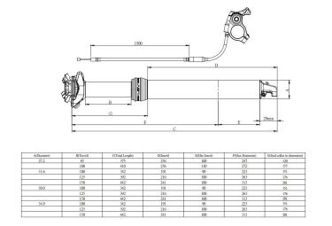 Tige de Selle Télescopique KIND SHOCK Lev Integra Remote Débattement 150mm