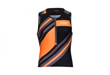Maillot sans Manches ZOOT TRI ULTRA Noir Orange Gris