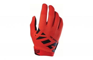 gants longs fox ranger gel rouge noir m