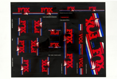 Kit stickers fox racing shox heritage 2017 bleu blanc rouge
