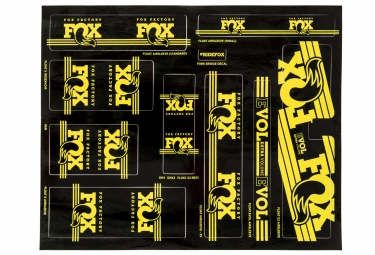 kit stickers fox racing shox heritage 2017 jaune