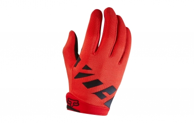 Gants longs enfant fox ranger rouge kid m