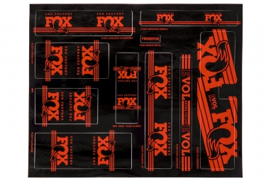 kit stickers fox racing shox heritage 2017 orange