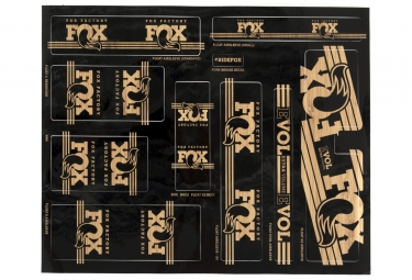 Kit stickers fox racing shox heritage 2017 bois