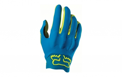 Gants Longs Fox Attack D3O Bleu