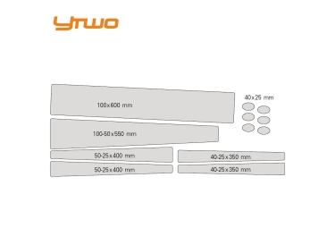 Kit de Protections YTWO Complet (12 pieces) 0.30mm Clair