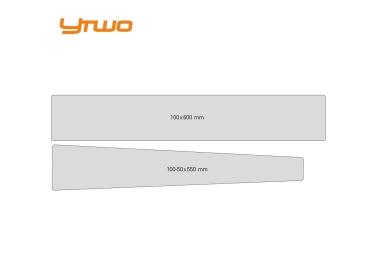 Kit de Protections YTWO Top Tube/Tube Diagonale (2 pieces) 0.30mm Mat