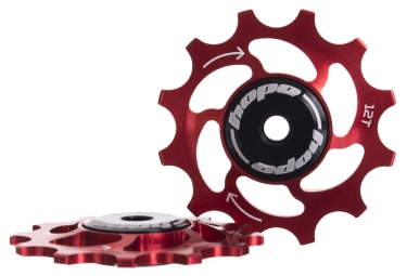 paire de galets hope 12 dents sram 11 vitesses rouge