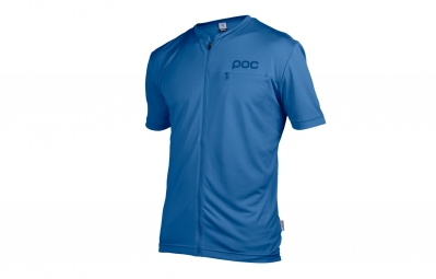 Poc Trail Light Zip Short Sleeves Jersey Blue