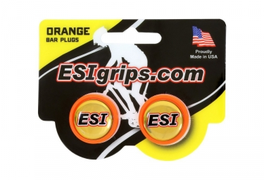 ESI Bar End Plugs Orange