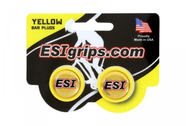 ESI Bar End Plugs Yellow