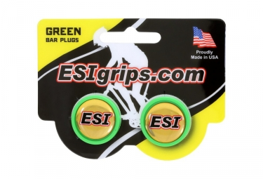 ESI Bar End Plugs Green