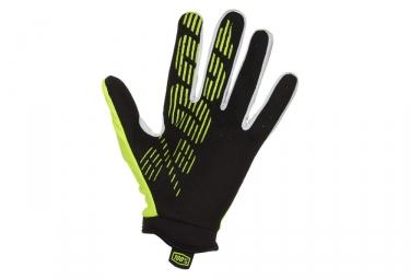 paire de gants enfant 100 itrack jaune fluo kid m
