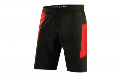 short avec peau fox livewire noir rouge 34