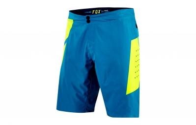 short avec peau fox livewire bleu jaune 36
