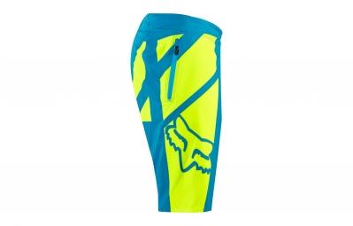short avec peau fox livewire bleu jaune 34