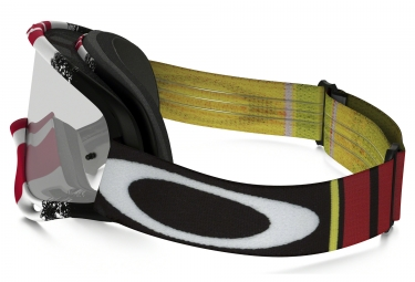 masque oakley o frame mx pinned race noir rouge jaune transparent ref oo7029 26