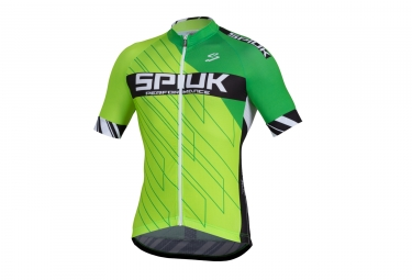 maillot manches courtes spiuk 2017 performance vert s