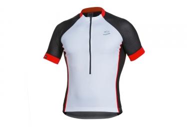 maillot manches courtes spiuk 2017 race blanc noir rouge m